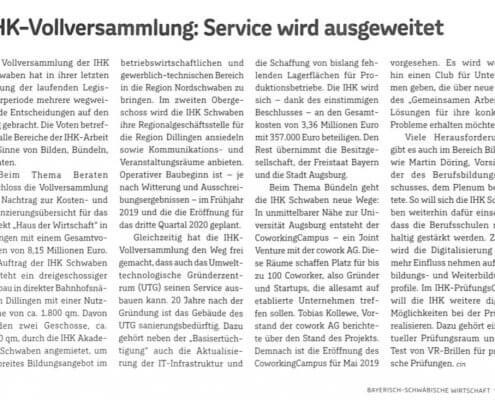 Joint Venture IHK Schwaben und cowork AG