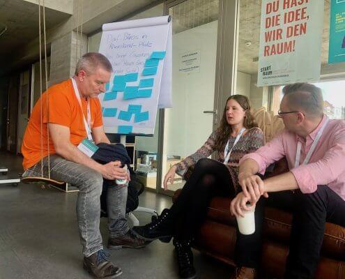 Diskussion über Coworking im ländlichen Raum