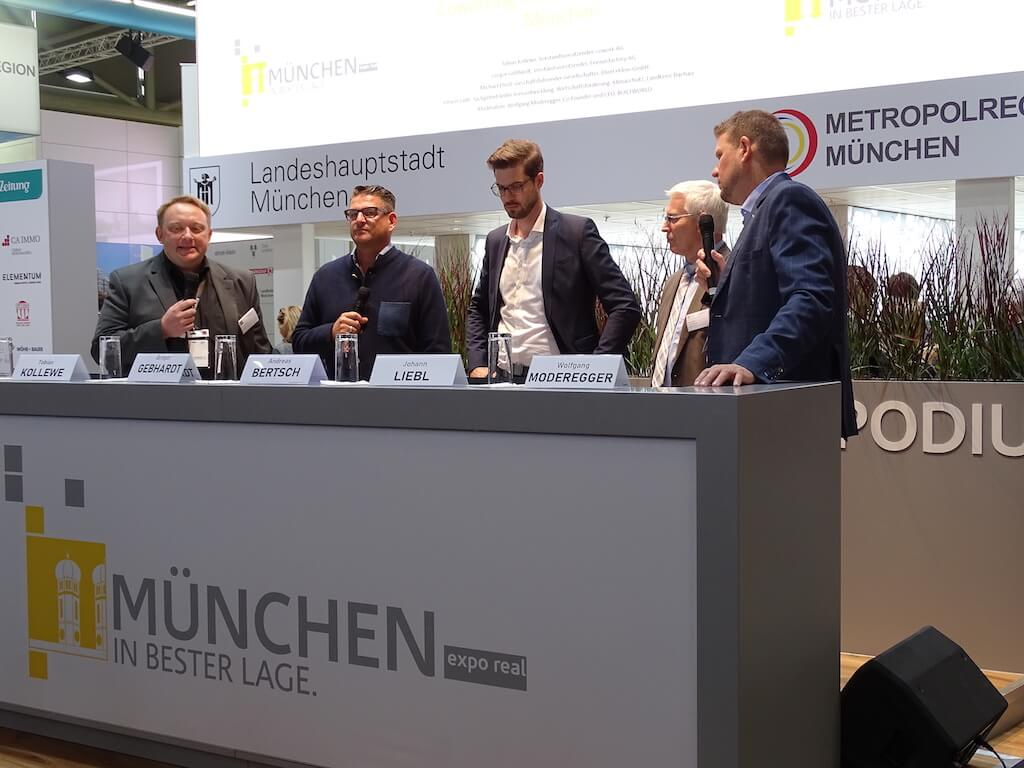 Podiumsdiskussion auf der EXPO REAL