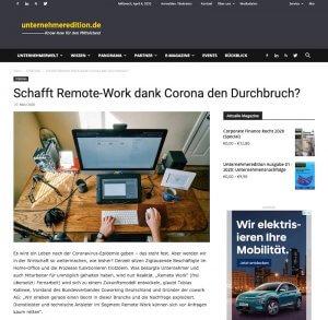 Remote Work Entwicklung